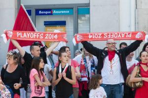 Célébration de la victoire de la JL ©Jacques Cormarèche